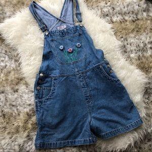 Vintage 1989s blue jean overalls